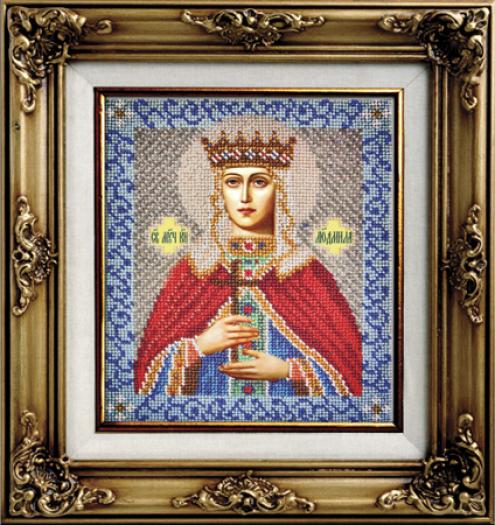 Вышивка бисером святой людмилы