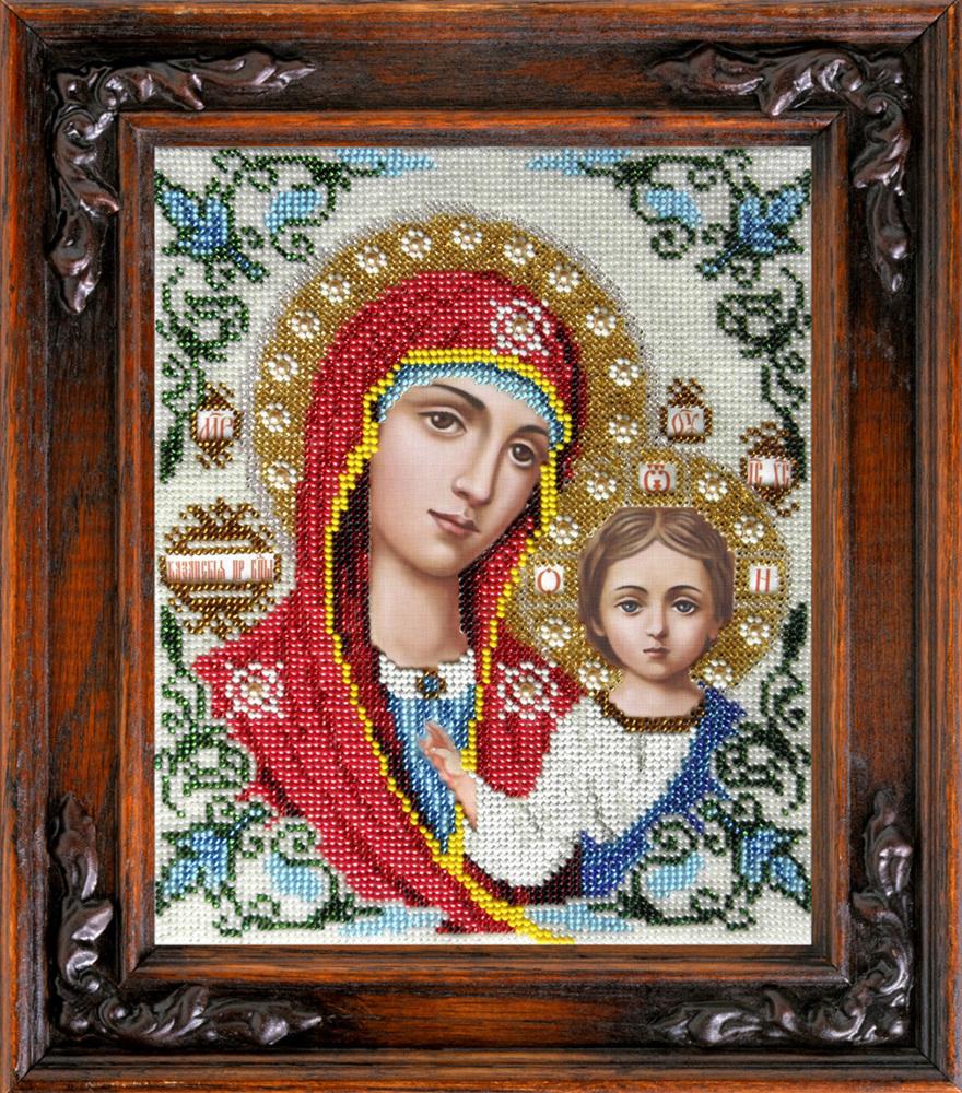 Иверская икона божией матери вышивка бисером купить