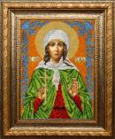 Вышивка бисером: Икона Святая Юлия