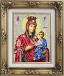 Иверская икона Божией Матери для вышивки бисером