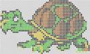 """Схема для вышивки бисером """"Черепаха"""""""