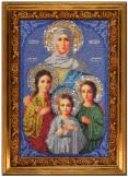 Вышиваем бисером икона Вера Надежда Любовь